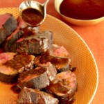 Coffee-Crusted Beef Tenderloin with Ancho Chile Sauce