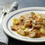 Gnocchi with Mushrooms & Pumpkin Cream Sauce