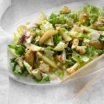 Escarole & Roasted Vegetable Salad with Anchovy-Garlic Vinaigrette