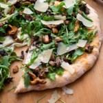 Wild Mushroom Pizza with Arugula & Pecorino