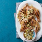 Grilled Chicken Legs with Fennel & Olive Relish