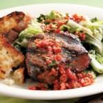 Grilled Beef Tenderloin & Escarole