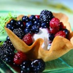 Cookie Cups with Lemon Thyme-Scented Berry Compote
