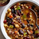 Southwestern Three-Bean & Barley Soup