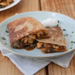 Barbecue Chicken & Chard Quesadillas
