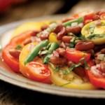 Bean & Tomato Salad with Honey Vinaigrette