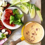 Cheese Fondue with Fennel & Tomatoes