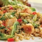 Toasted Quinoa Salad with Scallops & Snow Peas