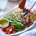 Composed Bean Salad with Basil Vinaigrette