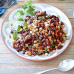 Moroccan Kidney Bean & Chickpea Salad