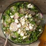 Radish, Herb & Feta Salad with Lemon Vinaigrette
