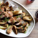 Fennel Pollen & Balsamic-Glazed Pork Tenderloin with Braised Fennel