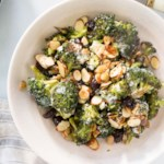 Charred Broccoli with Almonds & Cherries