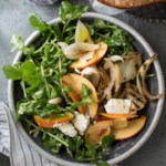 Steven Satterfield's Grilled Vidalia Onion, Peach & Arugula Salad