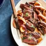 Honey-Paprika-Glazed Steak & Onions