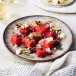 Watermelon, Olive, Caper & Feta Salad