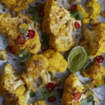 Coconut Roasted Cauliflower with Cilantro and Lime