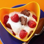 Crunchy Chocolate-Raspberry Yogurt