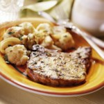 Pork Chops with Roasted Cauliflower and Onions
