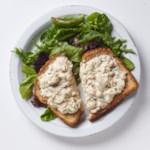 Salmon Salad Tartine & Mixed Greens