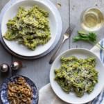 Pasta with Parsley-Walnut Pesto