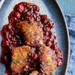 Cranberry-Balsamic Chicken Thighs
