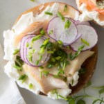 Smoked Trout & Cream Cheese Flagel