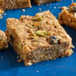 Peanut Butter, Blueberry & Oat Energy Squares