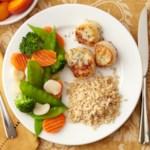 Scallops, Rice and Veggies