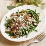 Green Beans with Creamy Mushroom Sauce