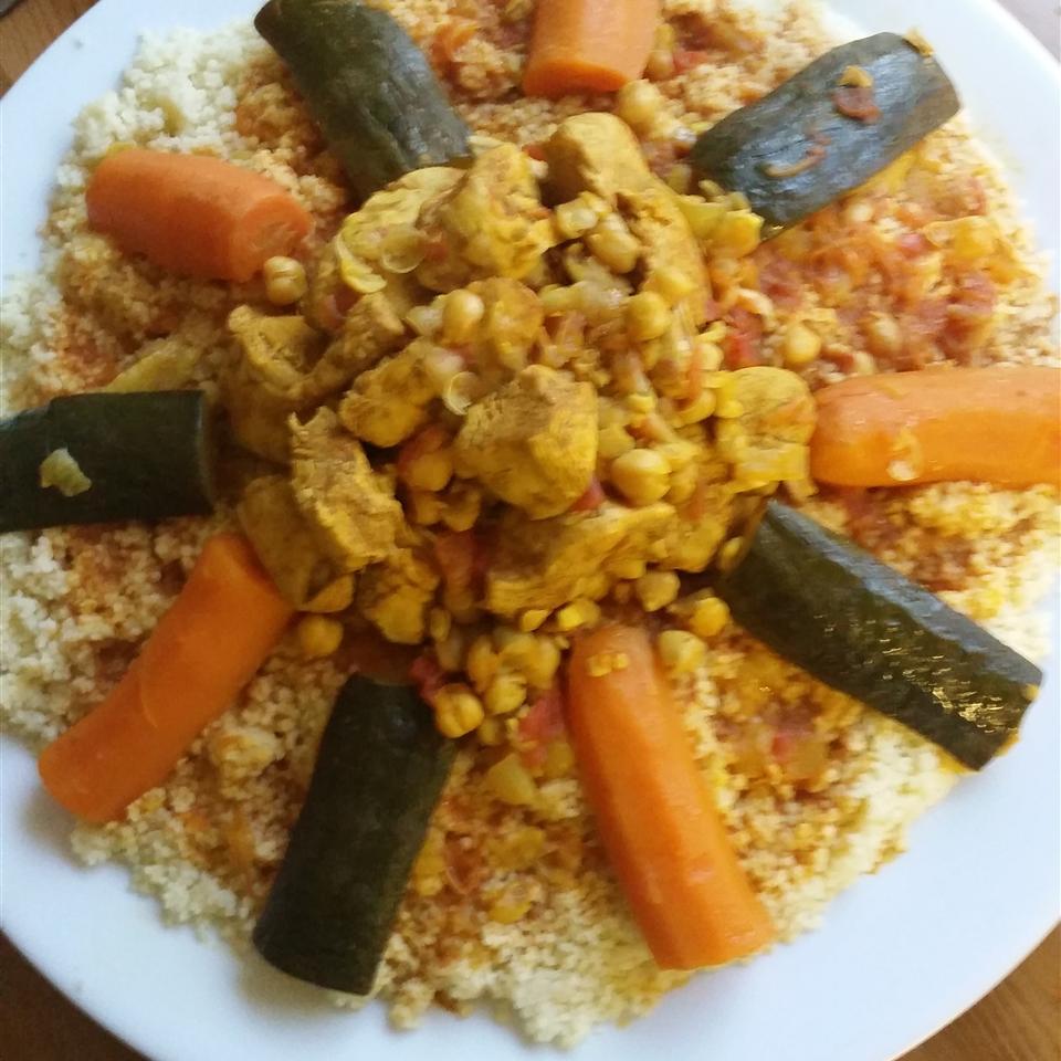 Moroccan Chicken and Whole Grain Couscous ceciz