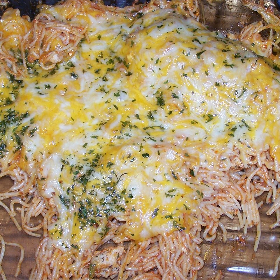 Baked Spaghetti with Chicken Nicole Piersma