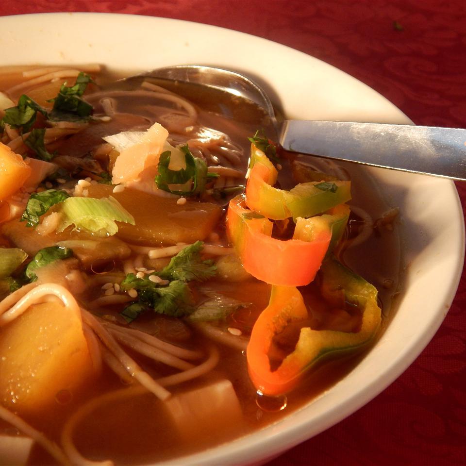 Pumpkin and Tofu Miso Soup IDIOTEQUE