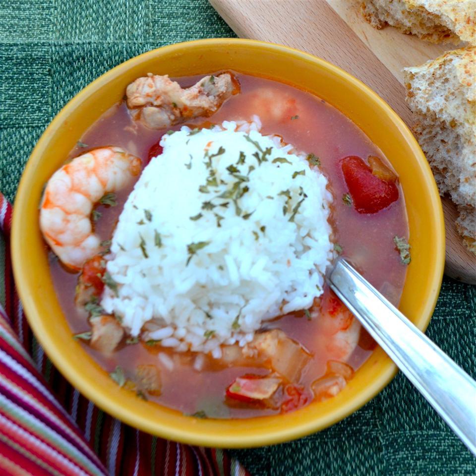 Slow Cooker Chicken Gumbo with Shrimp