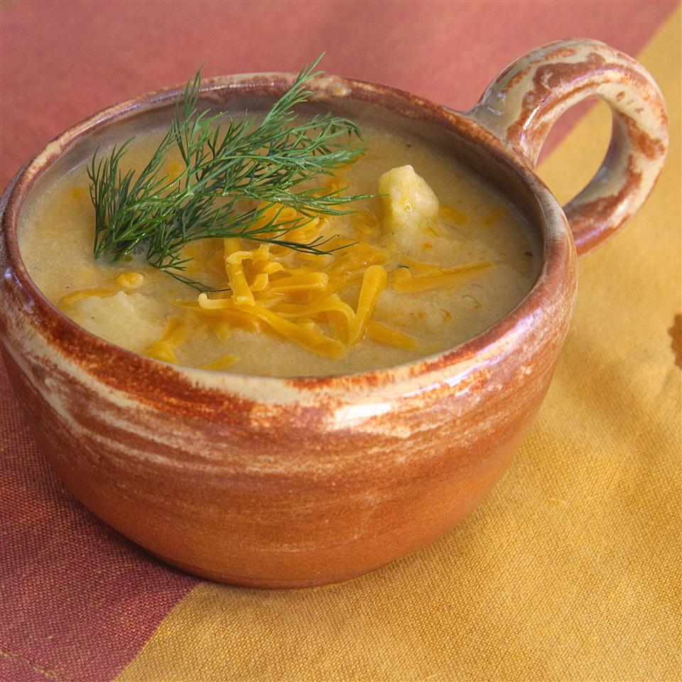 Cauliflower Soup with Cheese