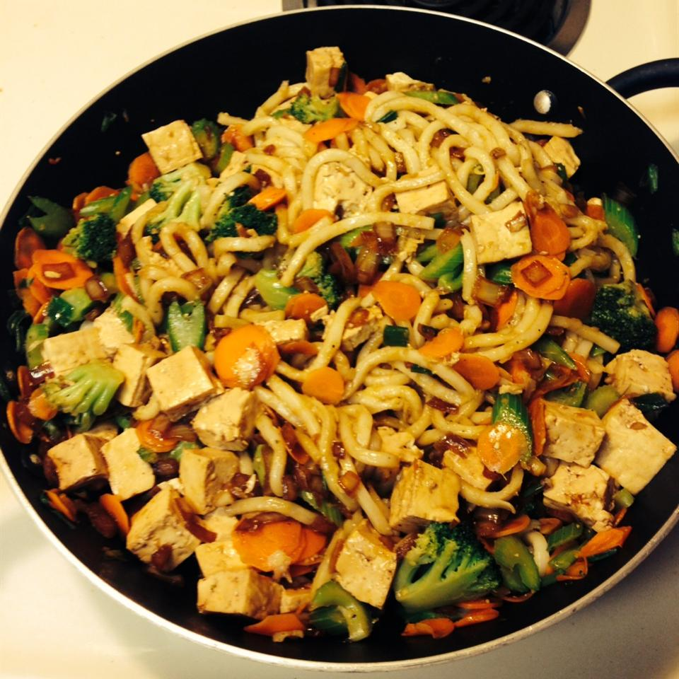 Sesame Asian Tofu Stir-Fry Minnie