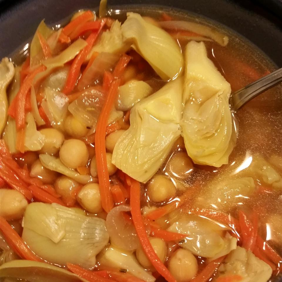 Artichoke and Chickpea Stew