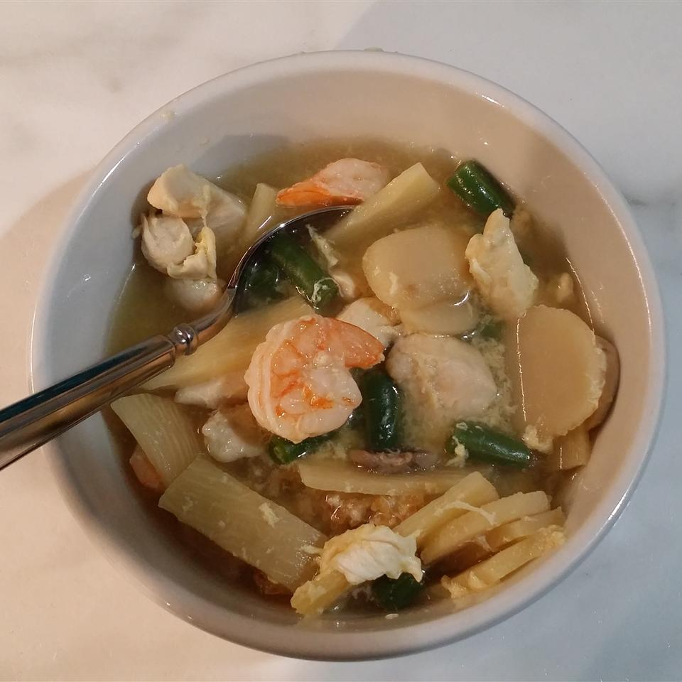 Chinese Sizzling Rice Soup