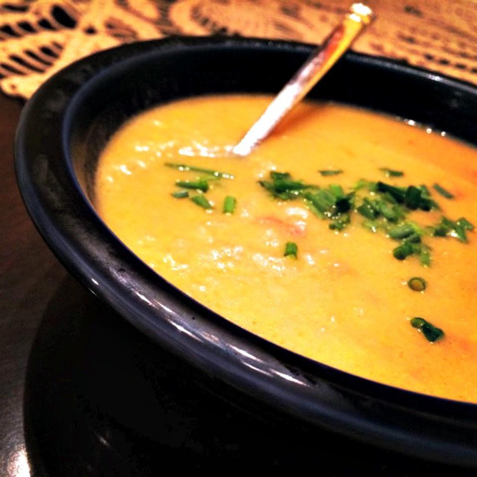 Cheesy Potato Leek Soup image
