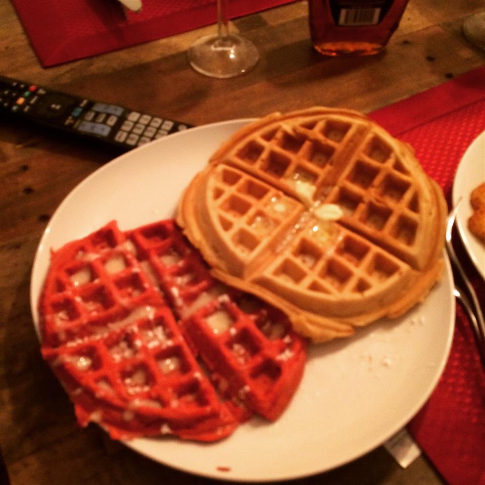 Red Velvet Belgium Waffles