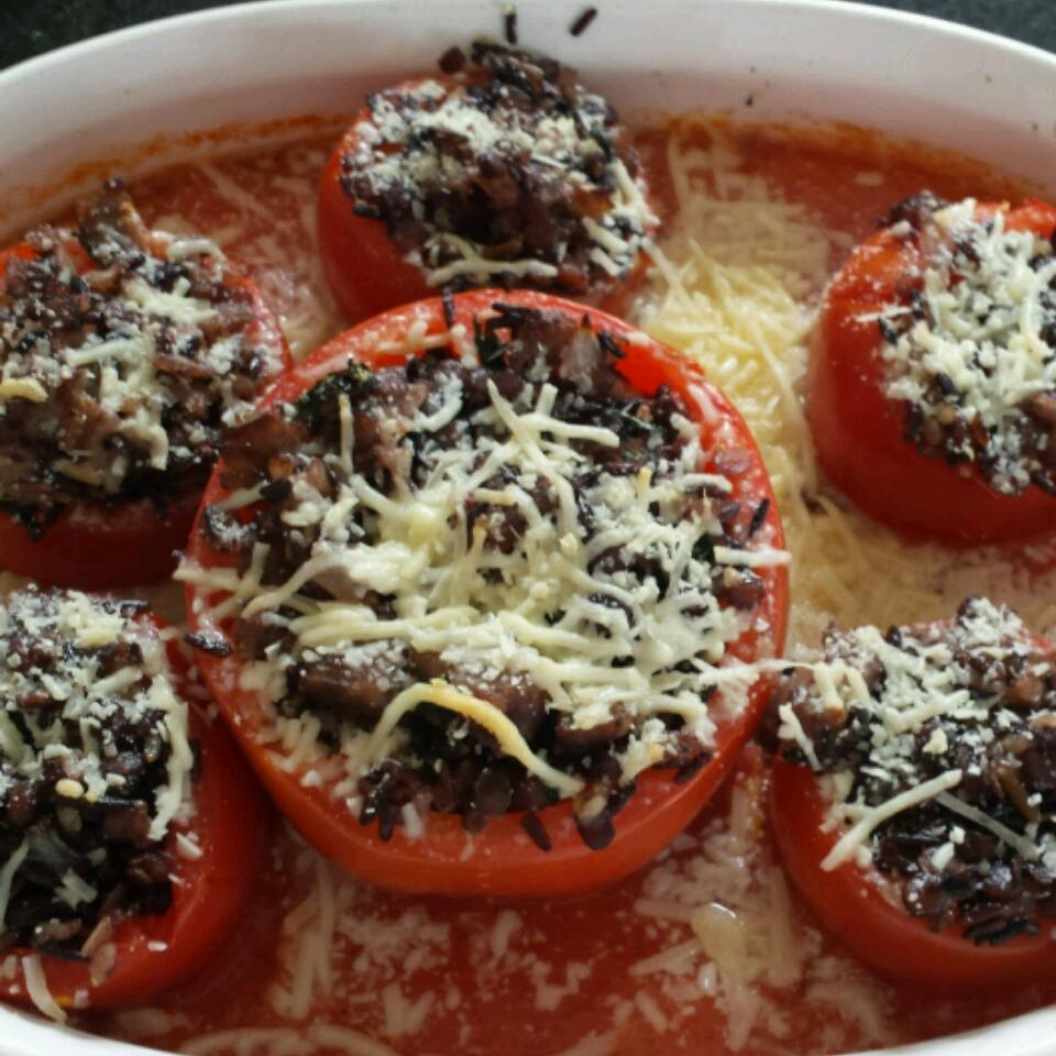 Lentil Stuffed Tomatoes