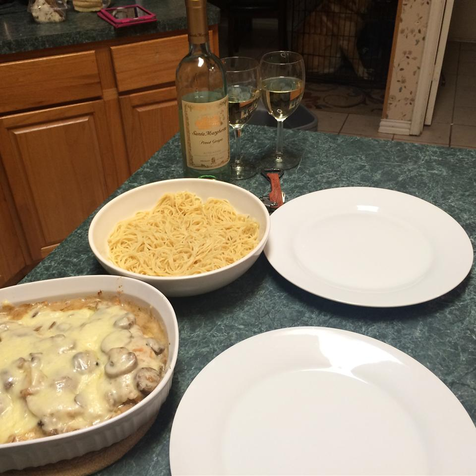 Chicken Gruyere with Sauteed Mushrooms
