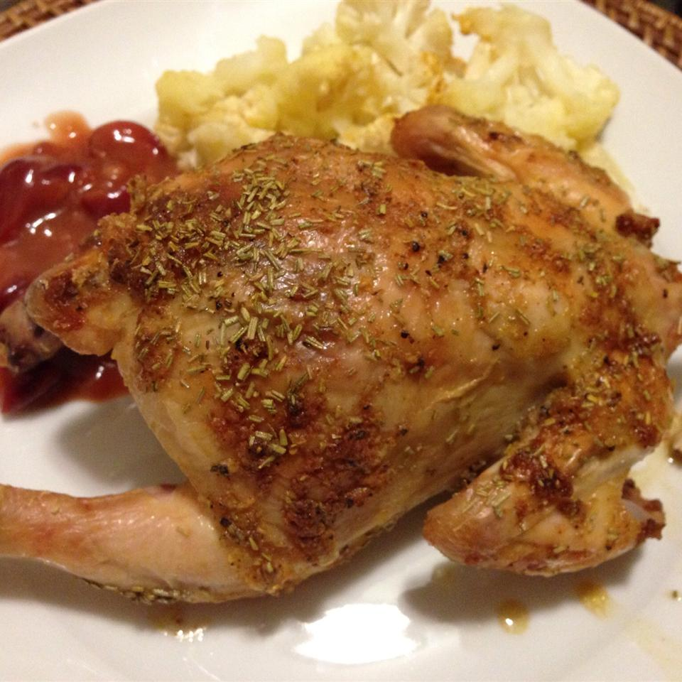 Cornish Hen with Tart Cherry Sauce Meaghan Busch