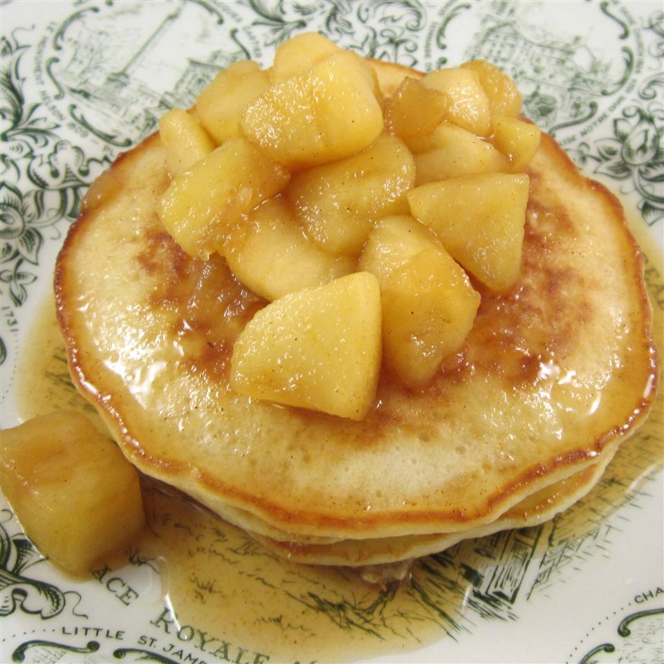 Oatmeal Pancakes with Apple Maple Sauce