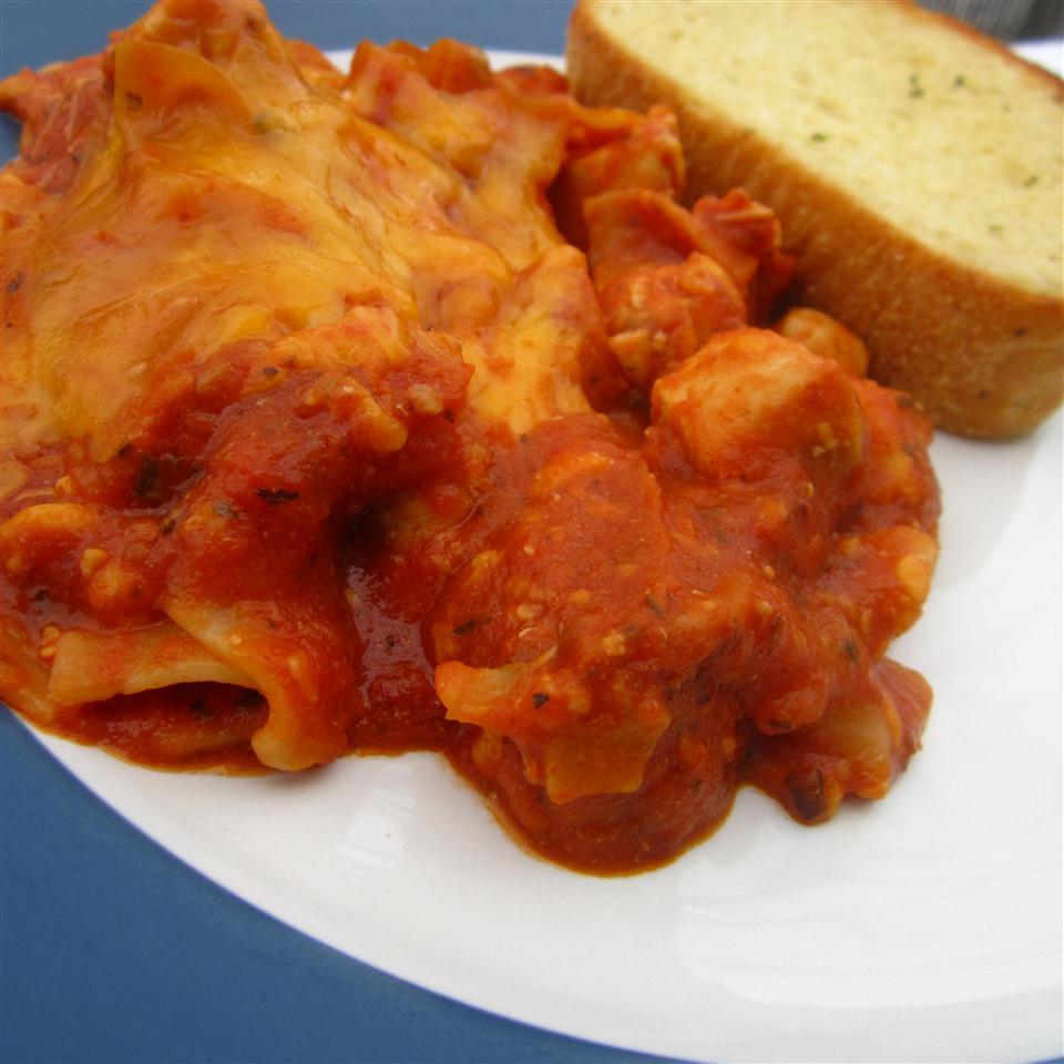 Chicken and Pumpkin Lasagna pomplemousse