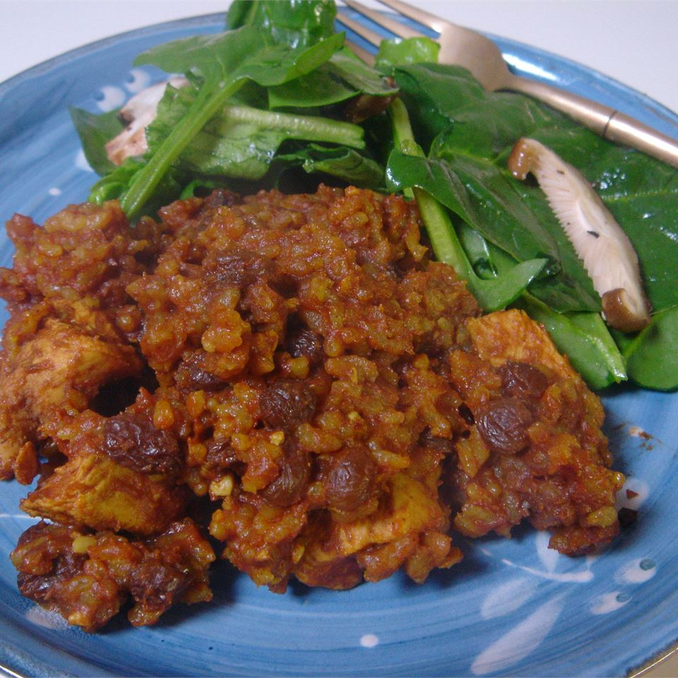 Curried Chicken and Brown Rice Casserole ISYBEL