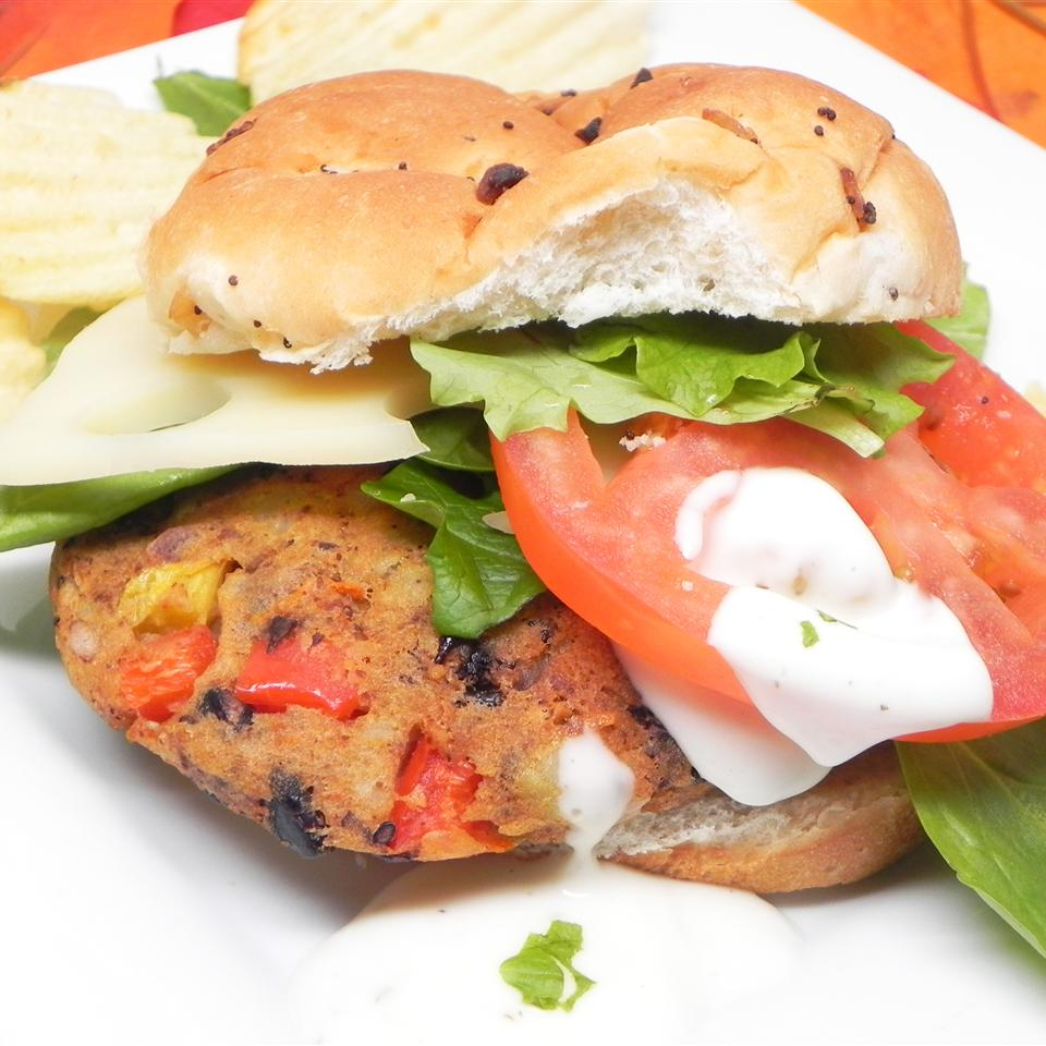 Black Bean and Potato Veggie Burgers