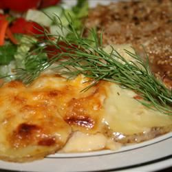 Potatoes Au Gratin with Fennel and Bacon