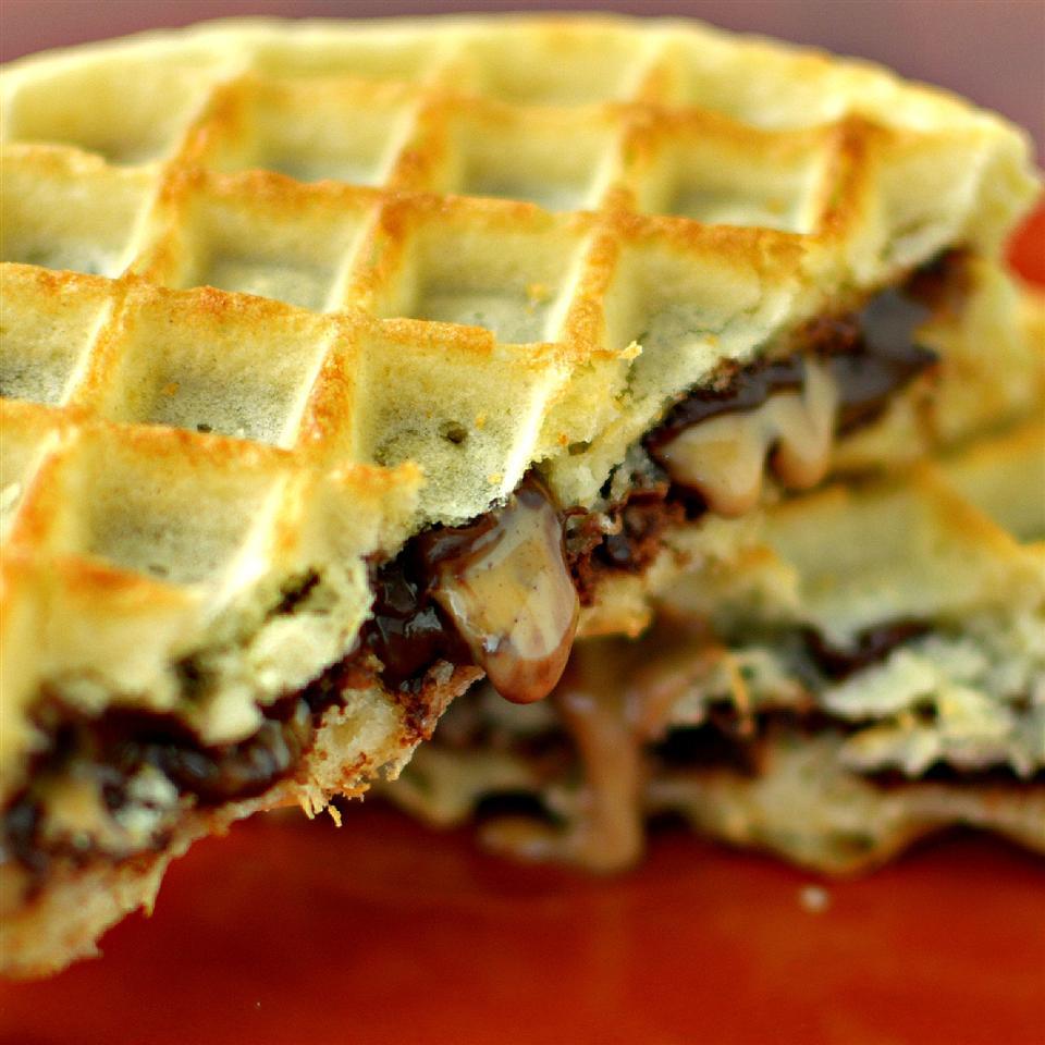 Peanut Butter Chocolate Waffle Sandwich Maha7