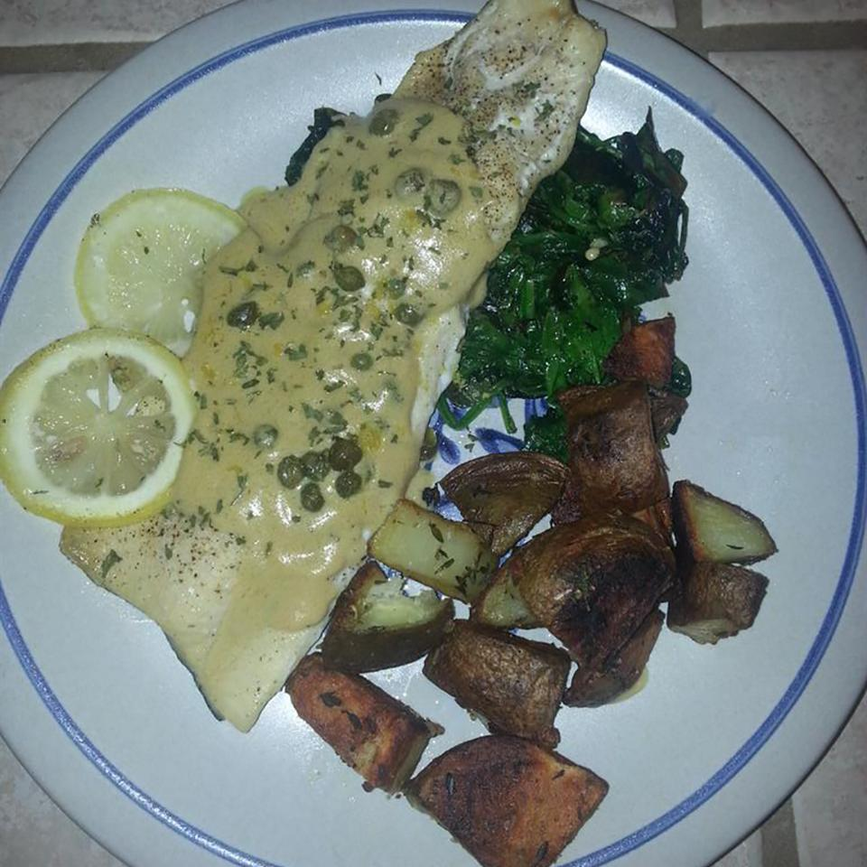 Rainbow Trout with Buttery Lemon-Caper Cream Sauce